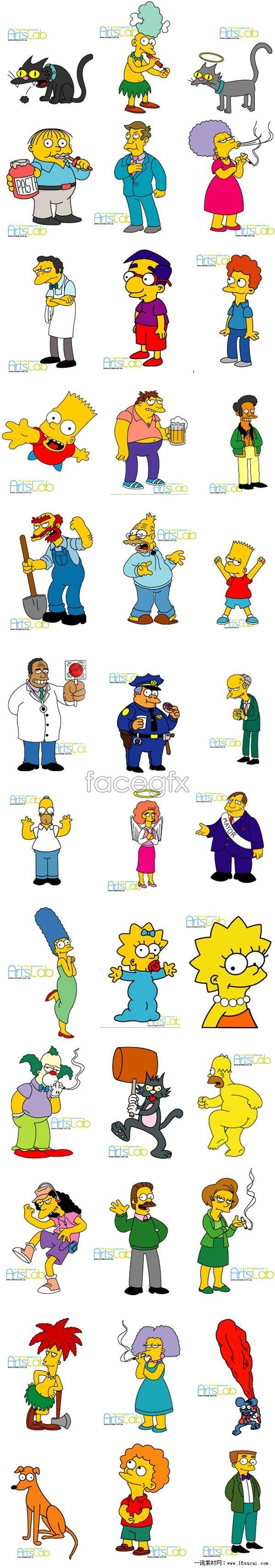 Adorable Simpsons cartoon vector