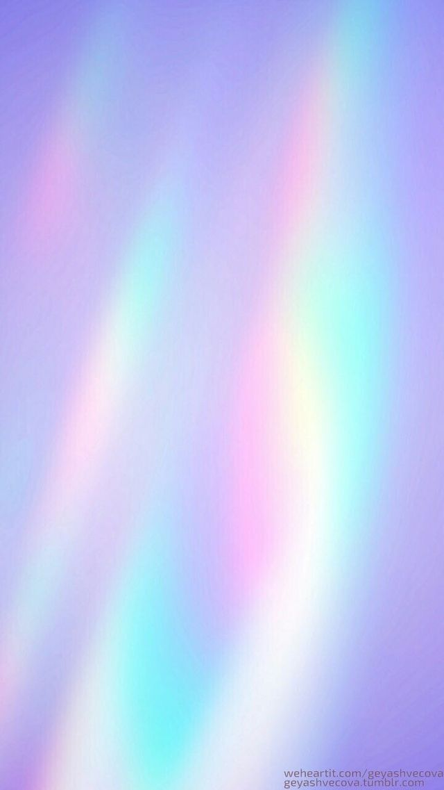 Gradient Rainbow Holographic Wallpapers Aesthetic Pastel