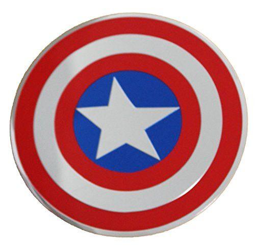 C&D Visionary Marvel Comics Retro Captain America Shield Metal Sticker, 12cm