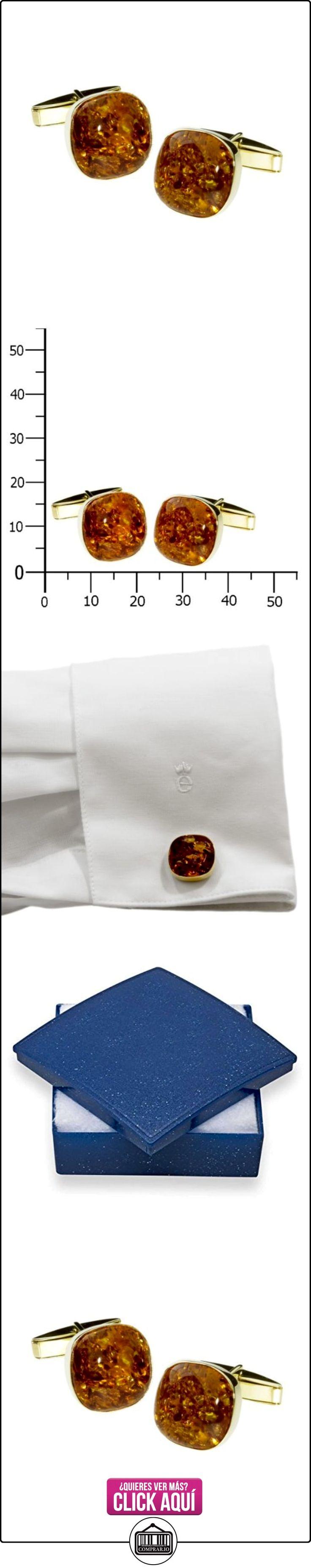 Ostsee-Schmuck - Gemelos de oro amarillo de 8 quilates con ámbar  ✿ Joyas para hombres especiales - lujo ✿ ▬► Ver oferta: http://comprar.io/goto/B00JZLET34