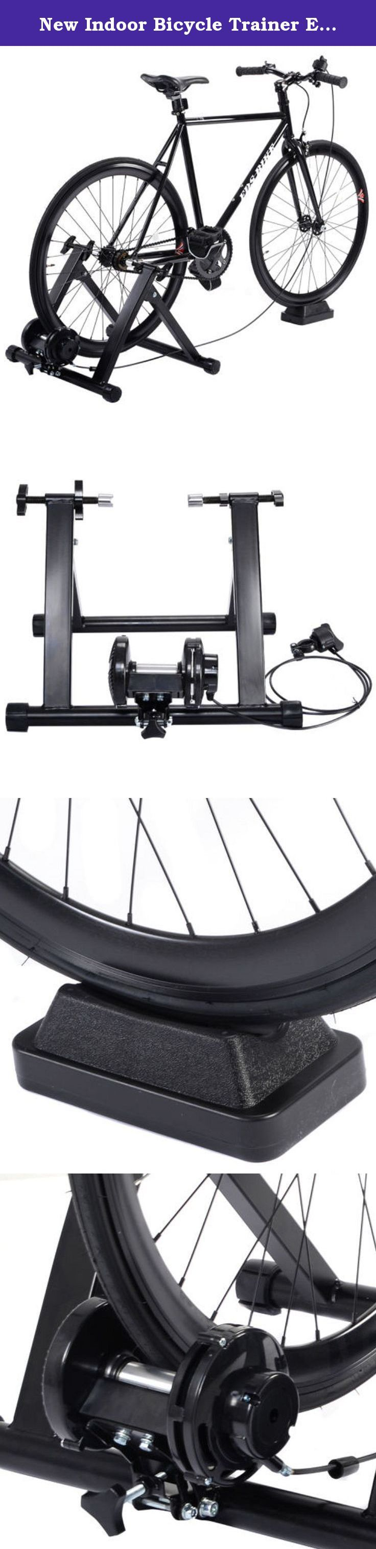 New Indoor Bicycle Trainer Exercise Bike Machine Ride Stand W/ 5 Levels Resistance Stationary. Product Description This Bicycle Trainer Is Specially Designed For Indoor Workout And Training. It Just Takes A Minute To Set It Up, Clamp Your Rear Axle With The Quick Clamp And Adjust The Contact Between The Wheel And The Polished Roller. With Its Fluid Drive Resistance System And Fluid Cooling Flywheel You Can Do Whatever You Want To Do. There Is No Reason Why You Can Not Exercise With Your…