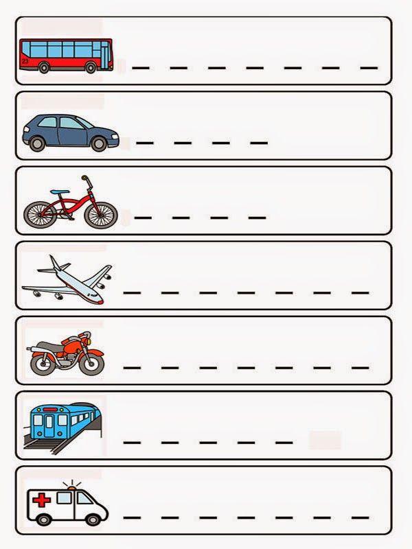 dopravní prostředky - slož slovo