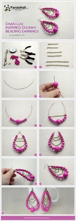 Jewelry Making Tutorial of DIY Chan Luu Inspired Chunky Beading Earrings | PandaHall Beads Jewelry Blog