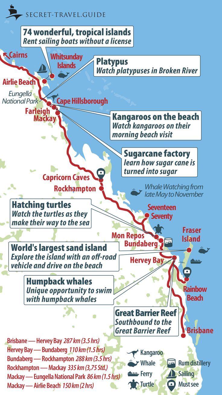 East Coast Australia Map Detailed.Mar 6 Discover Australia S East Coast From Brisbane To Cairns Cape