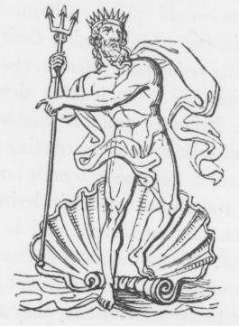 Neptune/Poseidon from Keightley's Mythology, 1852