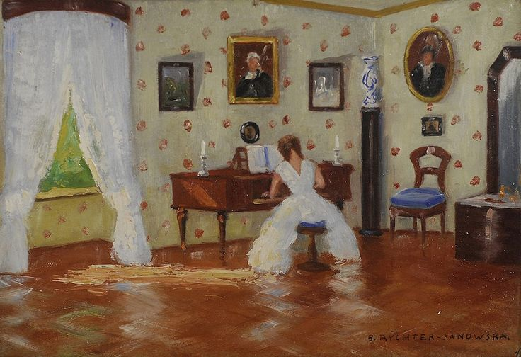 Bronisława Rychter-Janowska (1868-1953) — The Woman in the Living Room…