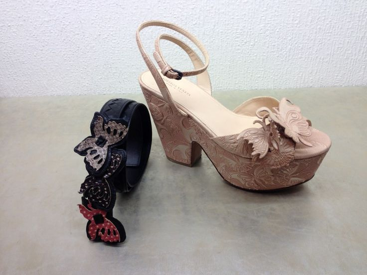 Bottega Veneta #woman #shoes #belt #butterfly