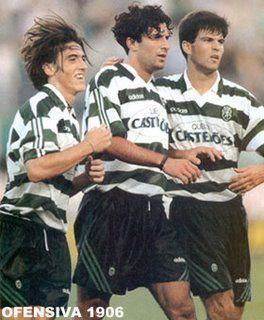 SPORTING VINTAGE: Ricardo Sá Pinto, Figo & Nuno Valente
