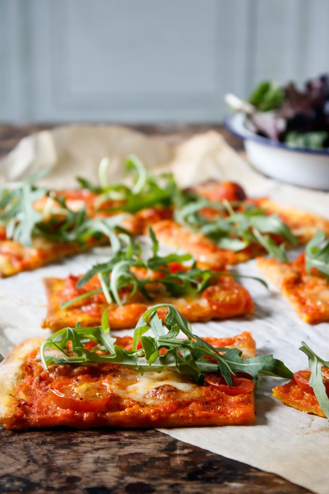 Carrot Pizza with Carrot Pizza Sauce   Veggie Desserts Blog  This carrot pizza has carrot in the base and in the carrot pizza sauce! The carrot gives it a subtly sweet flavour and adds a lovely orange colour.  veggiedesserts.co.uk