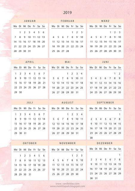 Kalender 2019 Deutsch Free Printable Free Printables Calendar