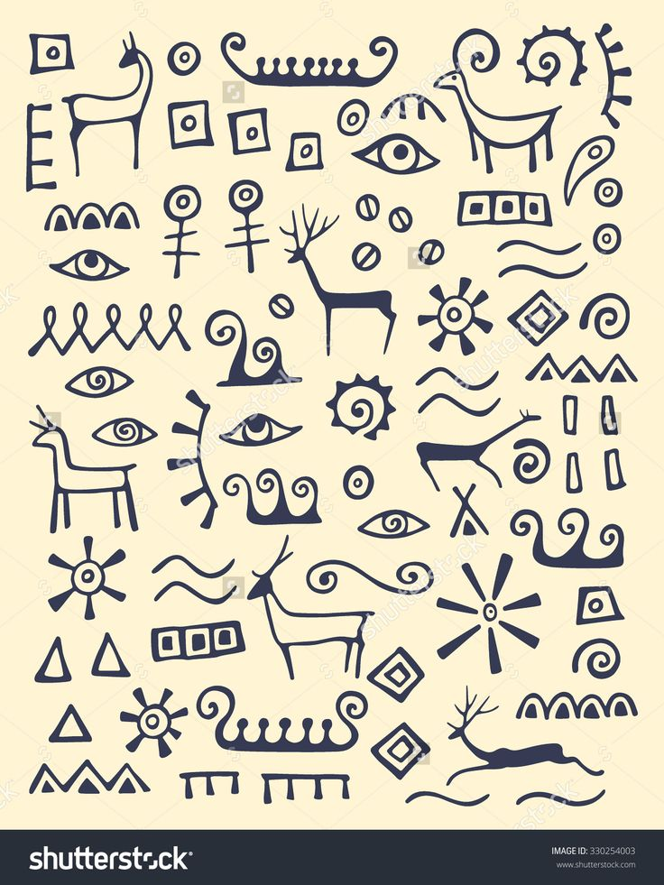 stock-vector-vector-illustration-of-hand-drawn-animals-and-abstract-elements-made-in-cave-drawings-style-330254003.jpg (1200×1600)