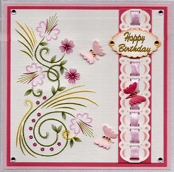 Stitch-a-Greeting: Birthday Card, pattern by Karin's Creations #136