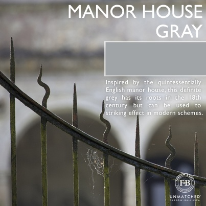 Manor House Gray by Farrow & Ball | Colors: Gray to Black | Pinterest | Gray,  Farrow ball and Manor houses