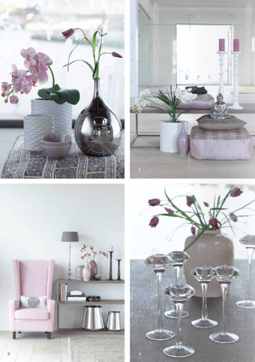 Grey and pink - decor