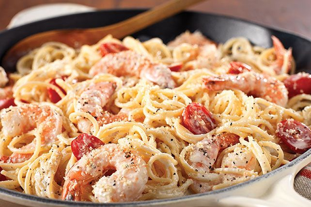 The reviews are in. Families love this Cracked Black Pepper-Shrimp Alfredo. Best of all: This pasta dish is ready in just 20 minutes.