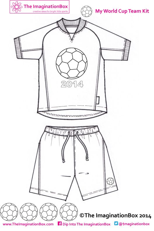 Design your own World Cup 2014 Team Strip, free to download at The imaginationBox