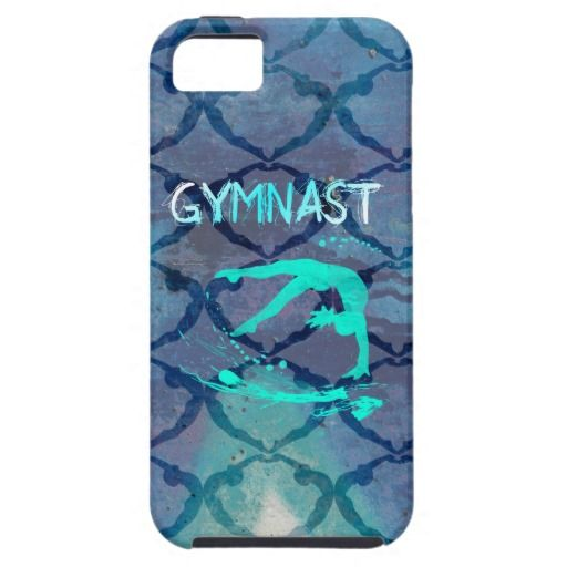 Gymnast Tribal Pattern Blue iPhone 5 Case