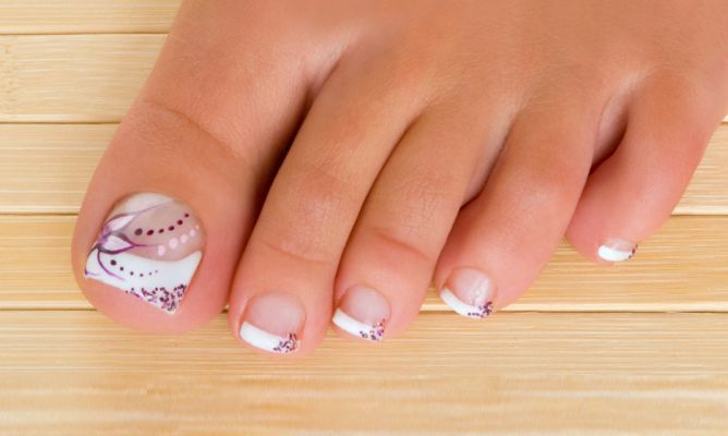 #pedicura francesa