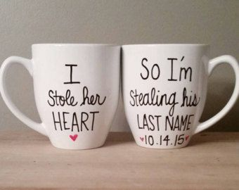 His and hers engagement mugs I popped the by simplymadegreetings