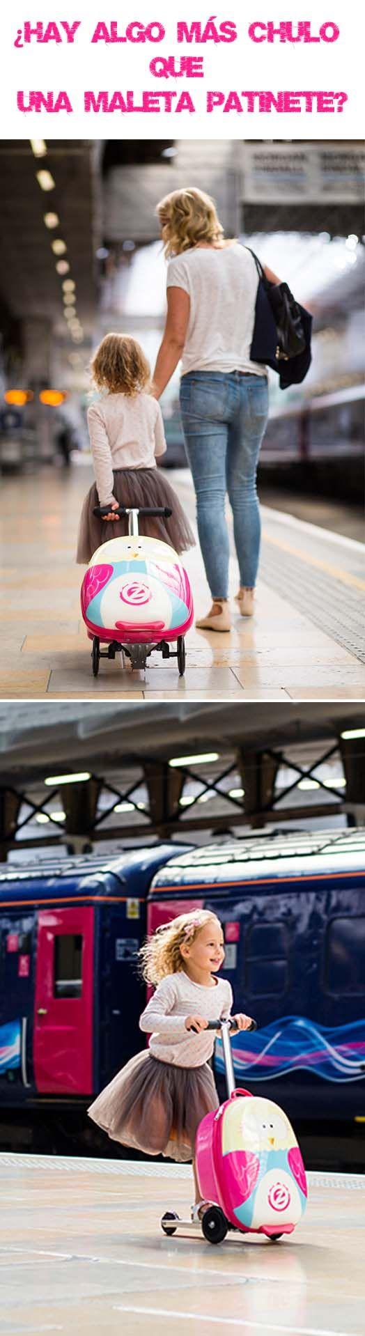 ¡Qué chulada! Este finde estrenamos nuestra maleta patinete. Y tú, ¿te vas de viaje el finde? #viajes #viajar #maleta #niños #imaginarium