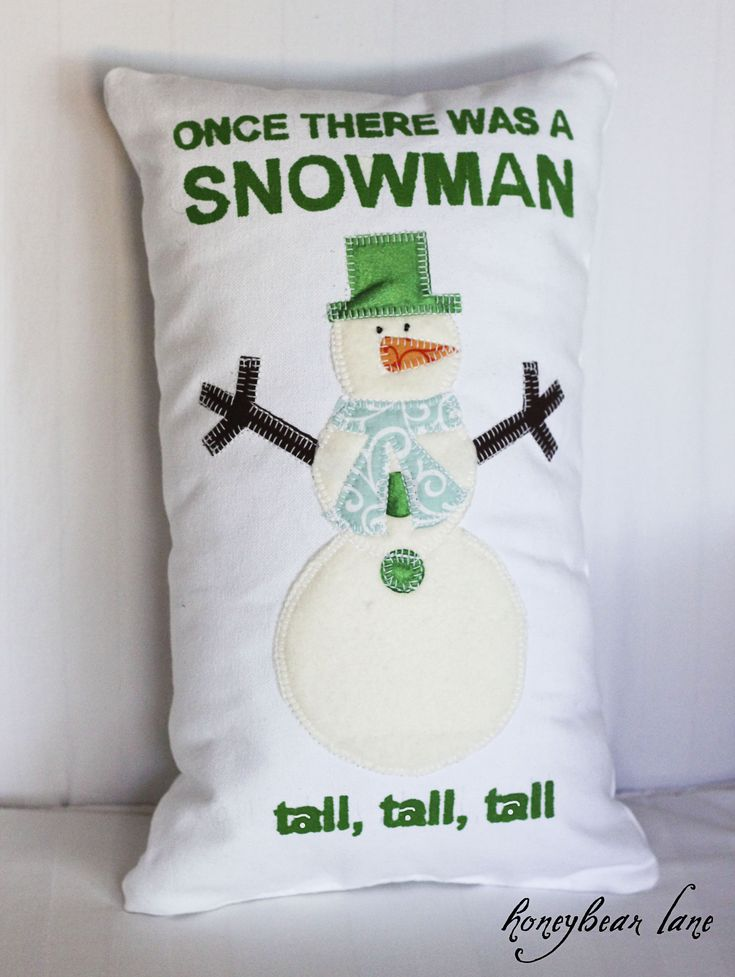 once there was a snowman pillow snowman pillows and