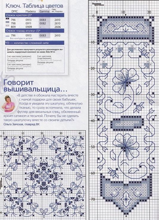 Zwiebelmuster Delft Blue ? Sticken . cross stitch - Gallery.ru / Фото #14 - ORNAMENT 4 - aaadelayda