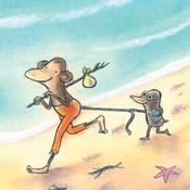 Kleuters Taal Boek:aap en mol gaan naar zee
