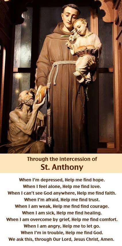 St. Anthony- Patron Saint of animals, domestic # st. anthony prayer