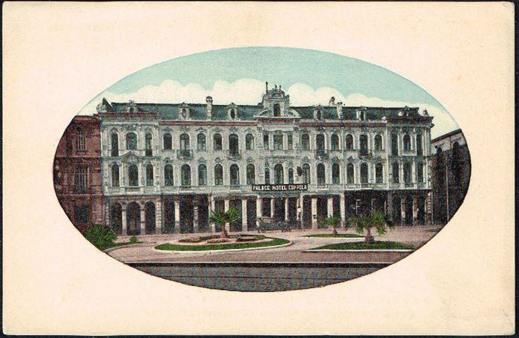 """Postal del Palace Hotel Coppola """"el único con baños de mar en el mismo establecimiento""""     Fuente: Postcards of Valparaíso"""