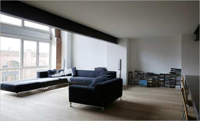 loft woonkamer in minimalistische stijl inrichting
