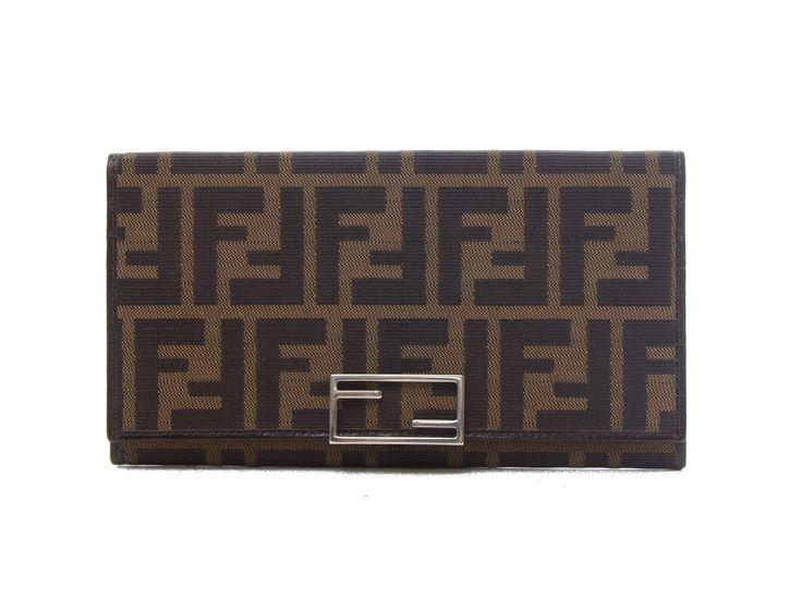 Authentic Fendi Portafogli Donna Zucca long wallet