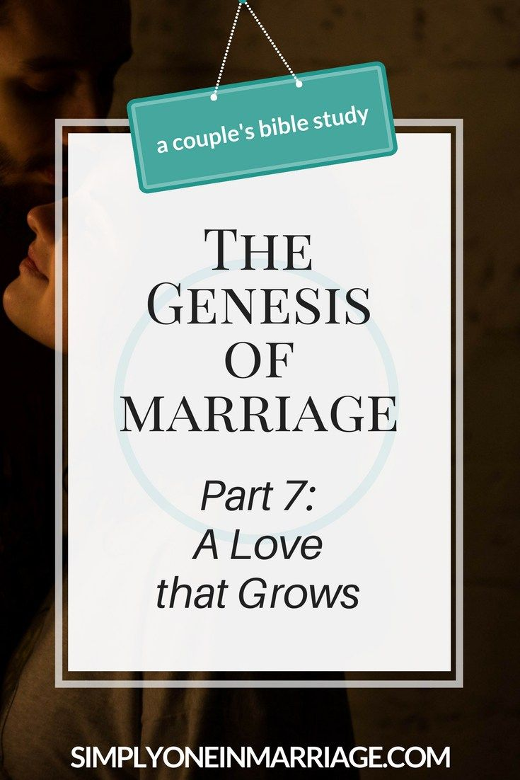 God designed the love in marriage to grow as you grow older together. We see an example of this the book of Genesis and the marriage of Jacob and Leah.