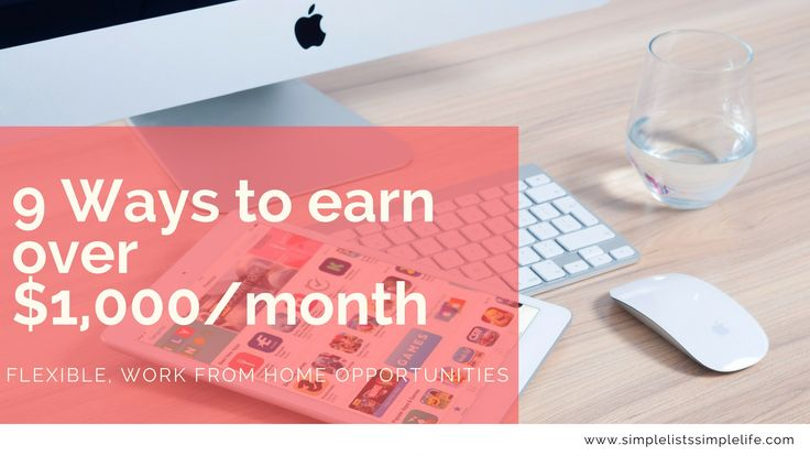 Flexible work opportunities for people to earn up to $1,000/month from home. Some require very little effort, others need some effort to complete. But all will make you money.