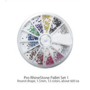 Diamond Nail Gems, Multi Color by Lux Beauty. $4.99