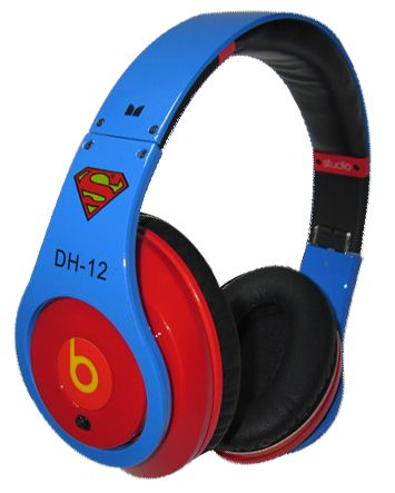 www.beatsbydrdre-drdrebeats.com    Monster Beats By Dr. Dre Studio Superman Dwight Howard Headphones Blue with Red.png