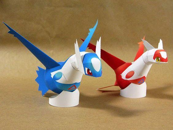 Paperkraft.net - Free Papercraft, Paper Model, & Papertoy: Pokemon Latias and Latios Paper Model