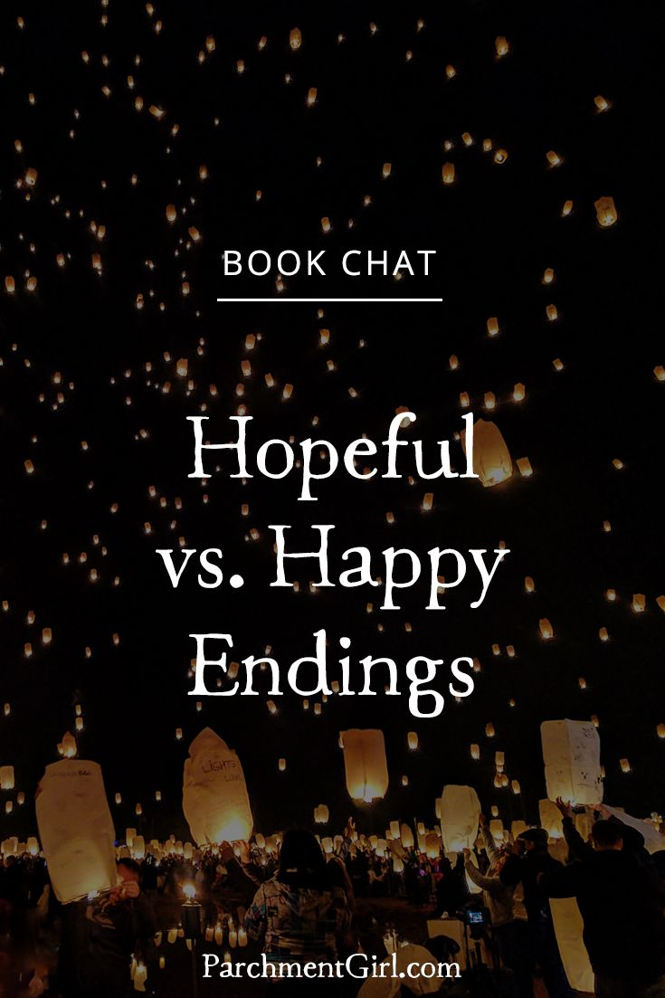What is the difference between a happy ending and a hopeful ending? Plus, why I don't need a happy ending but I DO need a hopeful ending.