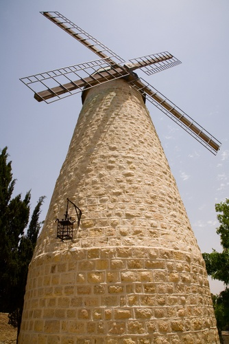 Built in 1858 by Jewish philanthropist Moses Montefiore, the windmill quickly became a recognized symbol of #Jerusalem. The landmark windmill situated at the entrance to Mishkenot Sha'ananim, the first neighborhood built outside Jerusalem's Old City walls.