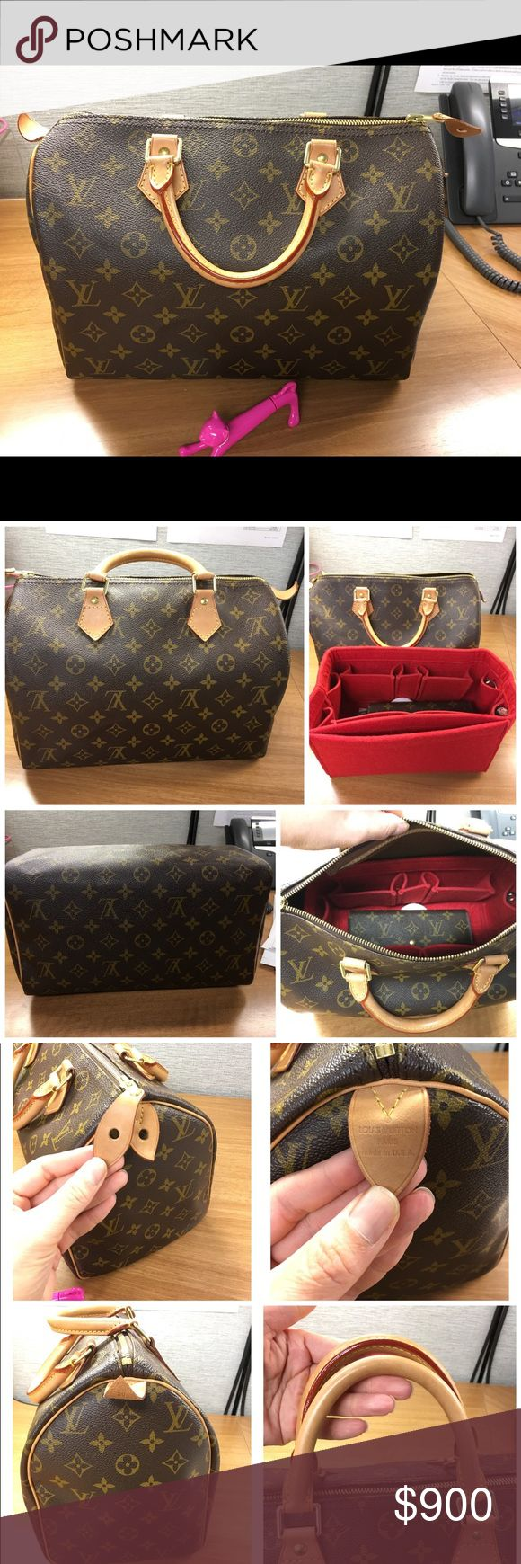 !!!SOLD!!! 💯Authentic Louis Vuitton Speedy 30 💕 Authentic Like NEW LV Speedy 30! No Marks. No Stains. No Scuffs. Clean Inside. Clean Outside. Keys, Lock, Dust Bag. Will Consider Offers. Louis Vuitton Bags Satchels