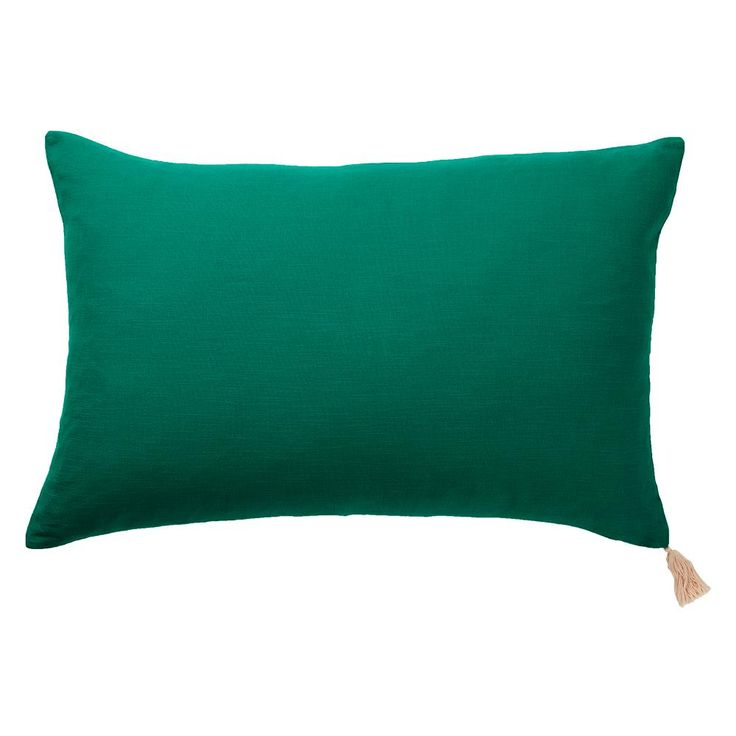 Salamanca Tassle Pillowcase - Emerald