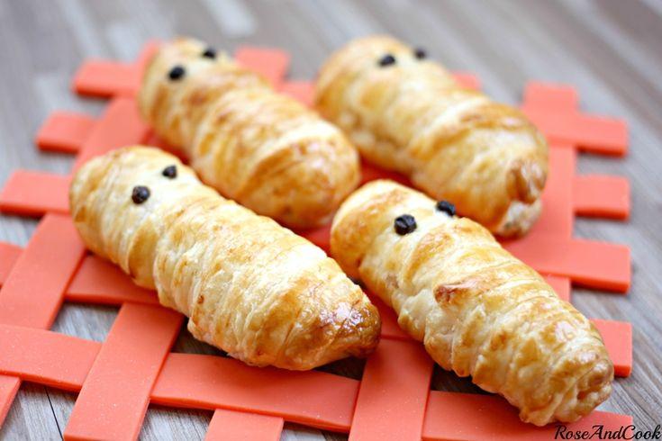 Les petits fantômes surimi emmitouflés {facile et rapide pour Halloween} - Rose & Cook