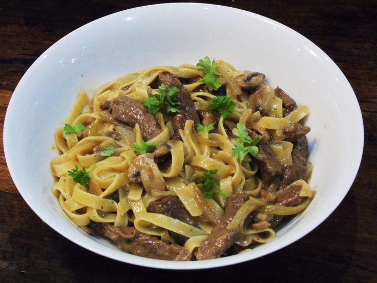 Syn - Free - Slimming - World - Tagliatelle - Pasta - Creamy - Sauce - Steak - Mushroom - Dinner - Easy
