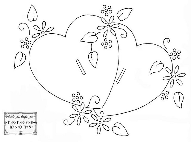 274 best images about coloring valentine 39 s day on for Double heart coloring pages