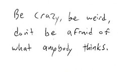 Quote about being crazy