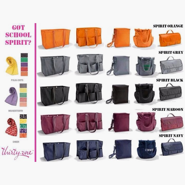 Thirty one's new spirit line allows you to have school and team spirit. Www.mythirtyone.com/susieomahoney
