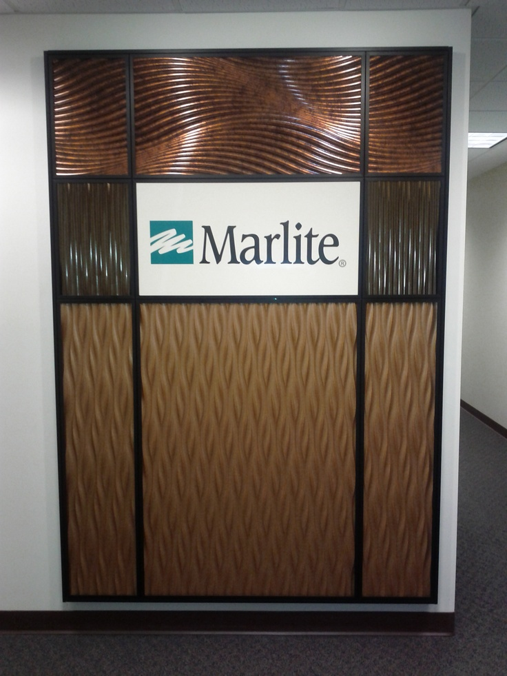 Marlite Feature Wall with dimensional Volta and Volta Flex panels
