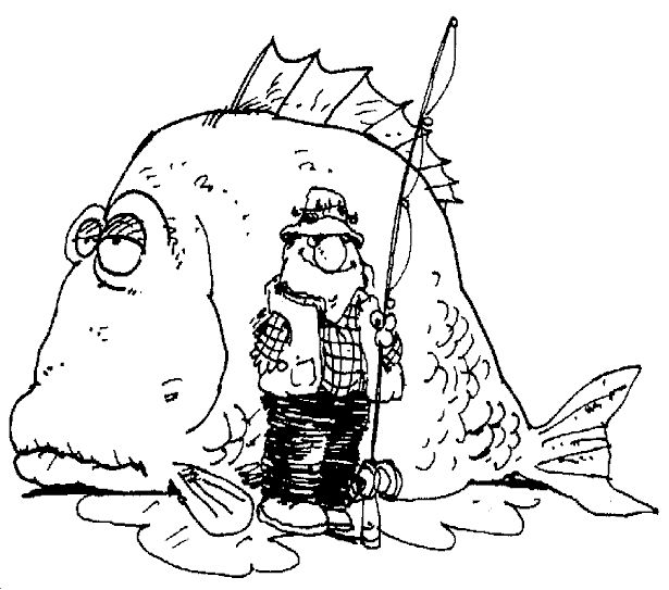 *The fishing tales get bigger every year.  fishing coloring pages 2  Perfect....