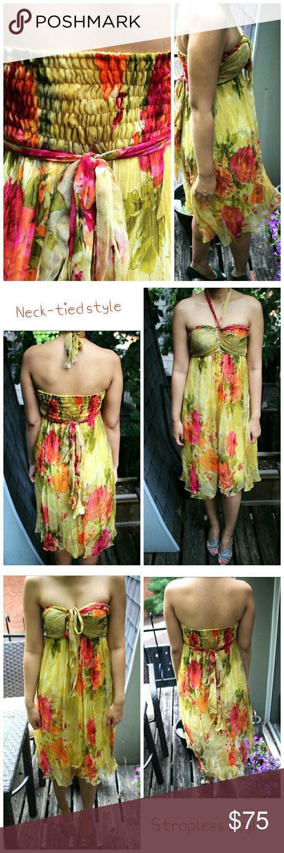 The dress how to see it both ways - 2 Style Yellow Formal Dress