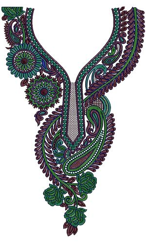 Neck Embroidery Design 12543