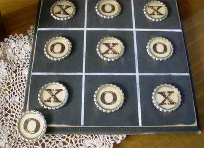 TIC TAC TOE with Bottle Caps